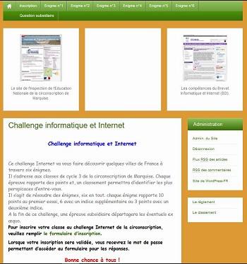 Le challenge Internet